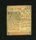 Colonial Notes:Delaware, Delaware May 31, 1760 20s Very Fine....