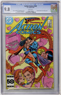 Modern Age (1980-Present):Science Fiction, Action Comics #568 (DC, 1985) CGC NM/MT 9.8 White pages....