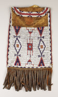 American Indian Art:Beadwork, A CHEYENNE BEADED LEATHER DISPATCH CASE. . c. 1880. ...