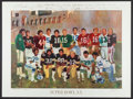 Football Collectibles:Others, 1986 Super Bowl MVPs Multi Signed Lithograph....