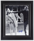 Basketball Collectibles:Photos, Bill Russell Signed Oversized Photograph - Pictured with Ali. ...
