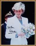 Movie/TV Memorabilia:Autographs and Signed Items, A Princess Diana Signed Color Photograph, 1996....