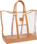 "Luxury Accessories:Bags, Louis Vuitton Clear Vinyl Centenaire Weekend Tote Bag by IsaacMizrahi . Good to Very Good Condition . 17"" Width x16""..."