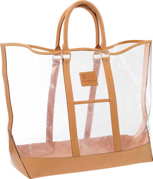 2ca7f4109c Luxury Accessories:Bags, Louis Vuitton Clear Vinyl Centenaire Weekend Tote  Bag by IsaacMizrahi .