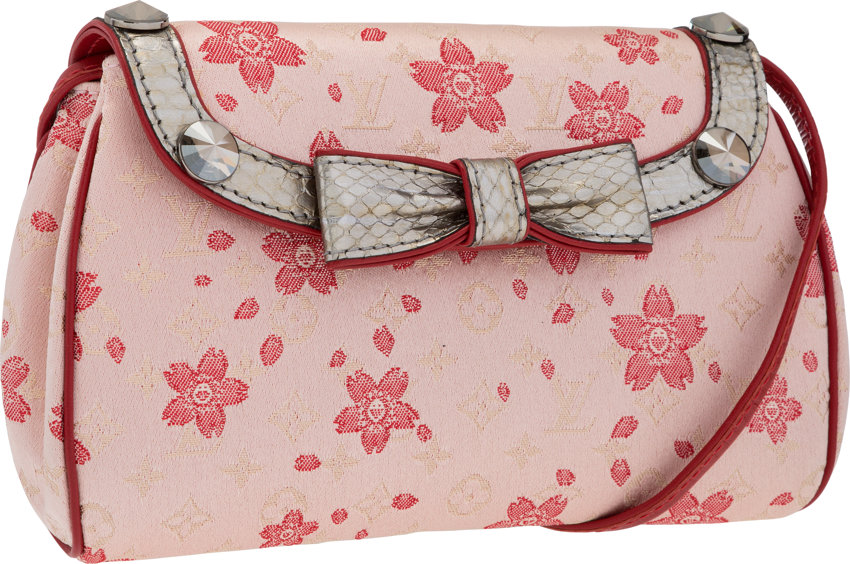 f1ff3e5e608 Louis Vuitton Limited Edition Pink Satin Cherry Blossom Griotte ...