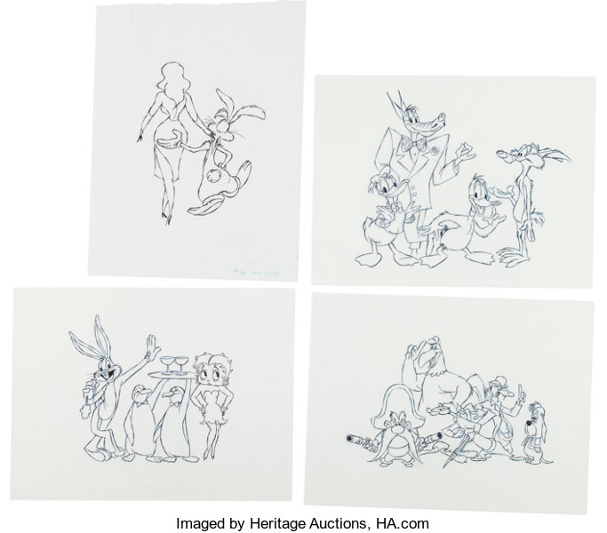 Who Framed Roger Rabbit? Roger and Jessica Rabbit Animation Drawing ...