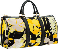 """Louis Vuitton Yellow & Black Canvas Canwan Keepall Bandouliere 50 Weekender Bag Excellent Condition 20"""" Widt"""