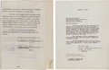 "Movie/TV Memorabilia:Autographs and Signed Items, A Paulette Goddard Contract for ""Gone With The Wind,"" 1938...."