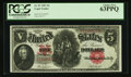 Large Size:Legal Tender Notes, Fr. 87 $5 1907 Legal Tender PCGS Choice New 63PPQ.. ...