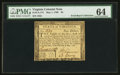 Colonial Notes:Virginia, Virginia May 1, 1780 $4 PMG Choice Uncirculated 64.. ...