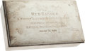 Baseball Collectibles:Others, 1939 Red Barber Silver Presentation Box from NBC For FirstTelevised Game....