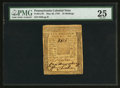 Colonial Notes:Pennsylvania, Pennsylvania May 20, 1758 10s PMG Very Fine 25.. ...
