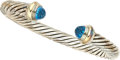 Estate Jewelry:Bracelets, Blue Topaz, Gold, Sterling Silver Bracelet, David Yurman. ...