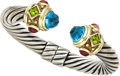 Estate Jewelry:Bracelets, Multi-Stone, Gold, Sterling Silver Bracelet, David Yurman. ...