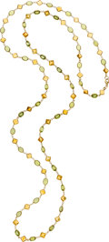 Estate Jewelry:Necklaces, Peridot, Citrine, Gold Necklace. ...