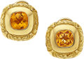 Estate Jewelry:Earrings, Citrine, Gold Earrings, Carol Silvera. ...
