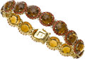 Estate Jewelry:Bracelets, Smoky Quartz, Garnet, Diamond, Gold Bracelet, Salavetti. ...