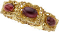 Estate Jewelry:Bracelets, Antique Garnet, Gold Bracelet. ...