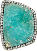 Estate Jewelry:Rings, Aquamarine, Diamond, White Gold Ring, Kimberly McDonald. ...