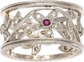Estate Jewelry:Rings, Ruby, Diamond, Platinum Ring, Cathy Waterman. ...