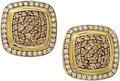 Estate Jewelry:Earrings, Colored Diamond, Diamond, Gold Earrings, David Yurman. ...