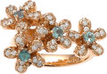 Estate Jewelry:Rings, Alexandrite, Diamond, Pink Gold Ring. ...