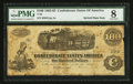 "Confederate Notes:1862 Issues, Manuscript Endorsement ""Captain J.B. Briggs"" T40 $100 1862 PF-20Cr. 308.. ..."