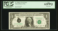 Error Notes:Ink Smears, Serial Number 2 Fr. 1908-E $1 1974 Federal Reserve Note. PCGS New62PPQ.. ...