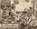 Mainstream Illustration, GALEN J. PERRETT (American, 1875-1949). The Village Store.Pencil on paper. 17 x 13 in. (sheet). Signed lower left. ...