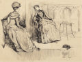Mainstream Illustration, ALBERT EDWARD STERNER (American, 1863-1946). Convalescent,1889. Ink on paper. 10.25 x 13.625 in. (image). Signed and da...