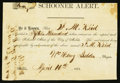 Confederate Notes:Group Lots, Alert Capital Stock $1500 April 16, 1863 Statement.. ...