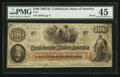 """Confederate Notes:1862 Issues, Manuscript Endorsement """"Major James Glover""""/J.H. ChildreyAdvertising Note T41 $100 1862 PF-61 Cr. 328A.. ..."""