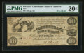 Confederate Notes:1861 Issues, T27 $10 1861 PF-1 Cr. 221.. ...