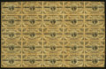 Fr. 1226 3¢ Third Issue Complete Sheet of 25 Fine