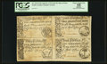 Colonial Notes:South Carolina, South Carolina April 10, 1778 2s/6d, 3s/9d, 5s, and 10s Sheet ofFour PCGS Apparent Choice About New 55.. ...