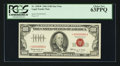 Small Size:Legal Tender Notes, Low Serial Number Fr. 1550* $100 1966 Legal Tender Note. PCGS Choice New 63PPQ.. ...