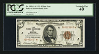 Fr. 1850-A* $5 1929 Federal Reserve Bank Note. PCGS Extremely Fine 40