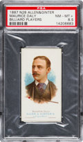 Baseball Cards:Singles (Pre-1930), 1888 N28 Allen & Ginter Maurice Daly, Billiard PSA NM-MT+ 8.5 -Pop One, One Higher. ...