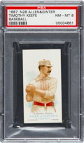Baseball Cards:Singles (Pre-1930), 1888 N28 Allen & Ginter Timothy Keefe, Baseball PSA NM-MT 8 -None Higher. ...