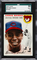 Baseball Cards:Singles (1950-1959), 1954 Topps Ernie Banks #94 SGC 86 NM+ 7.5....