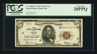 Fr. 1850-K* $5 1929 Federal Reserve Bank Note. PCGS Very Fine 20PPQ