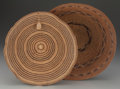 American Indian Art:Baskets, TWO CALIFORNIA TWINED TRAYS... (Total: 2 Items)