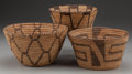 American Indian Art:Baskets, THREE PIMA/PAPAGO COILED BOWLS... (Total: 3 Items)