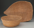 American Indian Art:Baskets, Two Paiute Twined Basketry Items... (Total: 2 Items)