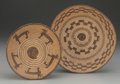 American Indian Art, TWO PIMA/PAPAGO COILED TRAYS... (Total: 2 Items)