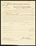 Miscellaneous:Other, Treasury Department Certificate of Examination of Securities ofNational Banks Letter 1888.. ...