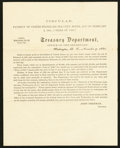 Miscellaneous:Other, Treasury Department Letter 1880.. ...