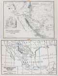Books:Maps & Atlases, [Maps]. [Mexico]. Pair of Photo Reproduction Maps of Mexico. [N.p., n.d., circa 1970]. ...