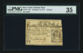 Colonial Notes:New York, Top Pop New York February 16, 1771 £3 PMG Choice Very Fine 35.. ...