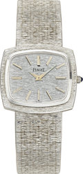 Estate Jewelry:Watches, Piaget Gentleman's White Gold Wristwatch. ...